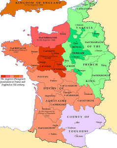 Map of France 1154